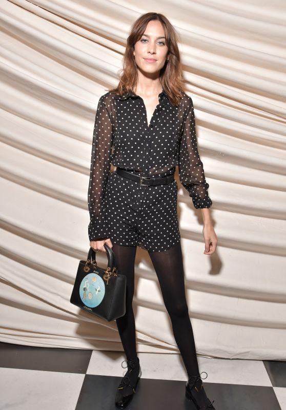 Alexa Chung at Christian Dior Show Spring Summer 2018 in Paris