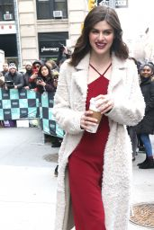 Alexandra Daddario - Outside BUILD Series in NYC 1/29/2018