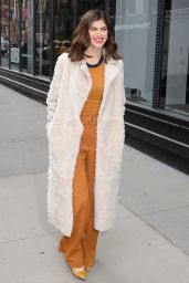 """Alexandra Daddario Style - Outside """"Aol Live"""" in NYC 01/29/2018"""