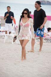 Alexandra Rodriguez on the Beach in Miami