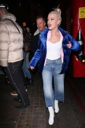 Alice Chater Night Out in London 01/30/2018
