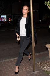 Alicia Vikander at Madeo Ristorante in West Hollywood