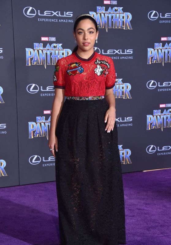 "Allegra Acosta – ""Black Panther"" Premiere in Hollywood"
