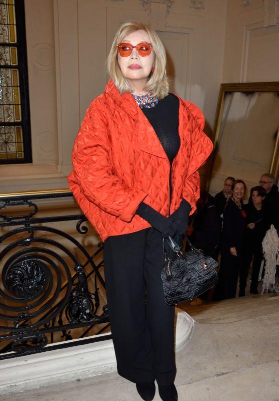 Amanda Lear – Jean-Paul Gaultier Fashion Show in Paris 01/24/2018