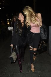 Amber Davies and Olivia Attwood - Outside Neighbourhood in Manchester