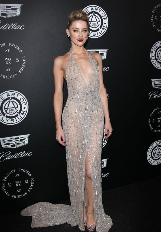 "Amber Heard – The Art of Elysium Black Tie Artistic Eperience ""Heaven"" in Santa Monica"