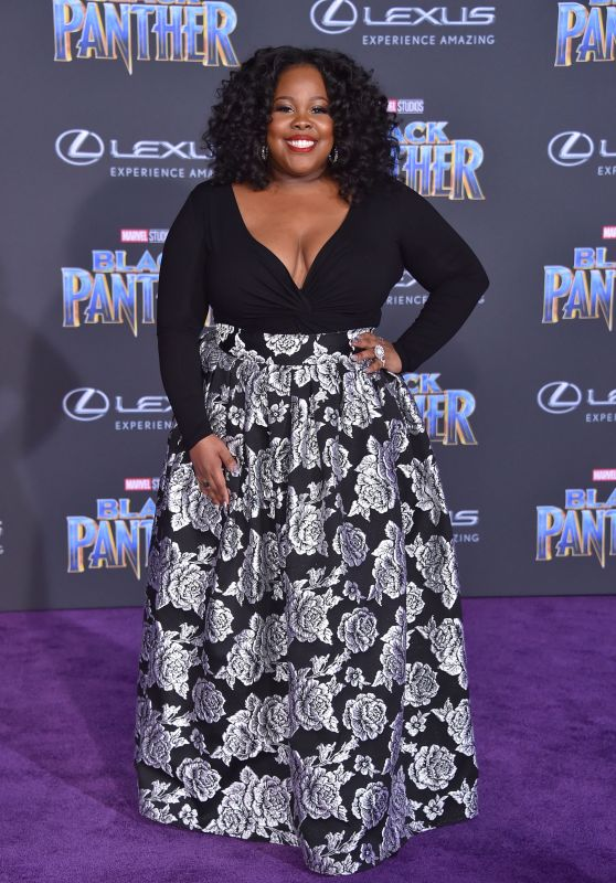 "Amber Riley – ""Black Panther"" Premiere in Hollywood"