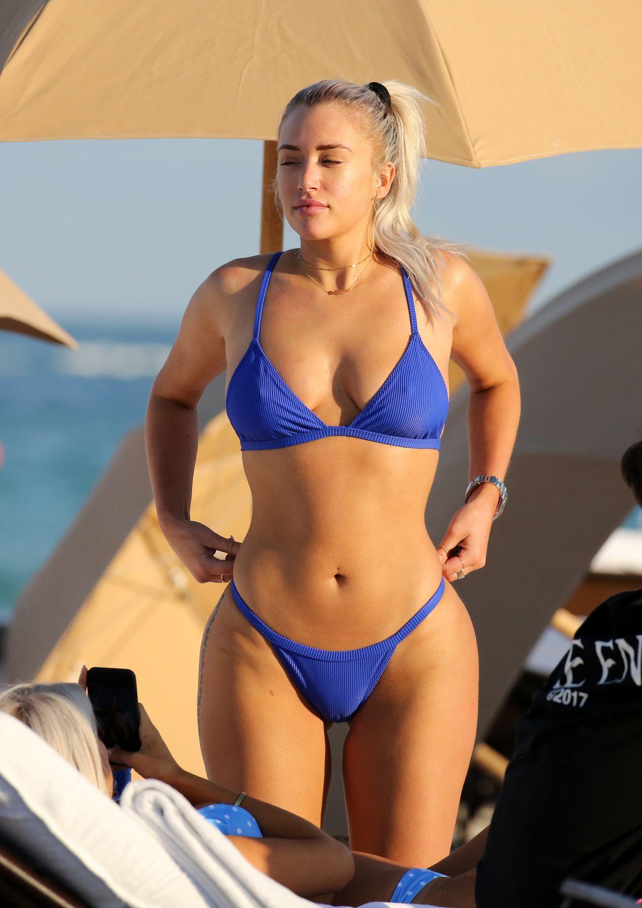 Anastasia Karanikolaou In Bikini At The Beach In Miami