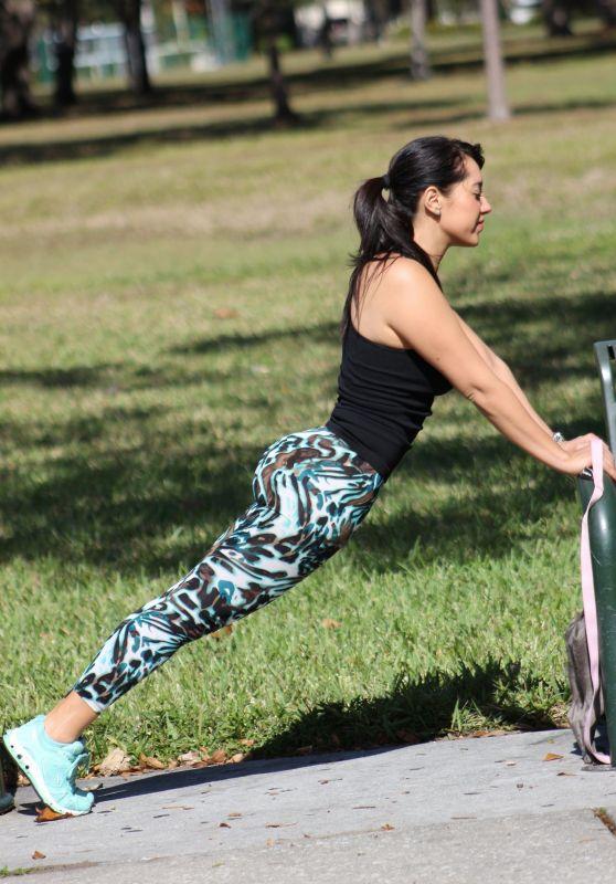 Andrea Calle - Exercising in LA