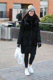Andrea McLean Winter Street Style - Outside ITV Studios in London 01/30/2018