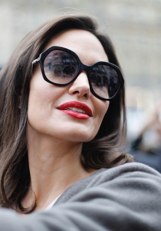 Angelina Jolie - Goes to Guerlain Perfumes Shop on the Champs-Elysées in Paris