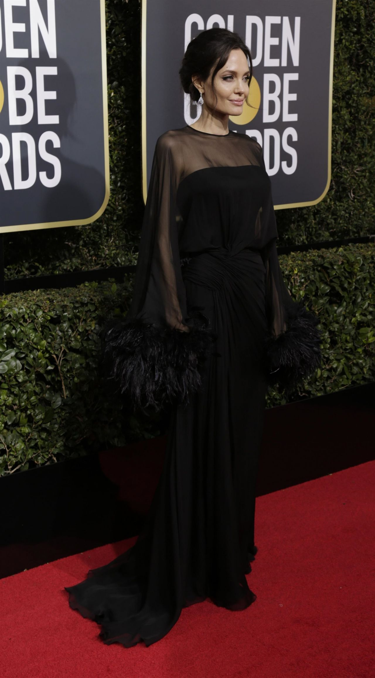 Angelina Jolie Golden Globe Awards 2018