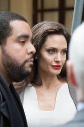 Angelina Jolie - Leaving Her Hotel in Paris 01/30/2018