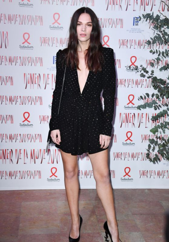 Anna Brewster - 2018 Sidaction Gala Dinner in Paris