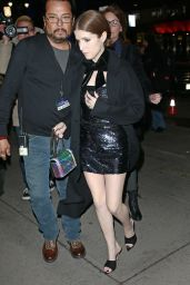 Anna Kendrick - Arriving at the Elton John Tribute Concert at Madison Square Garden in New York