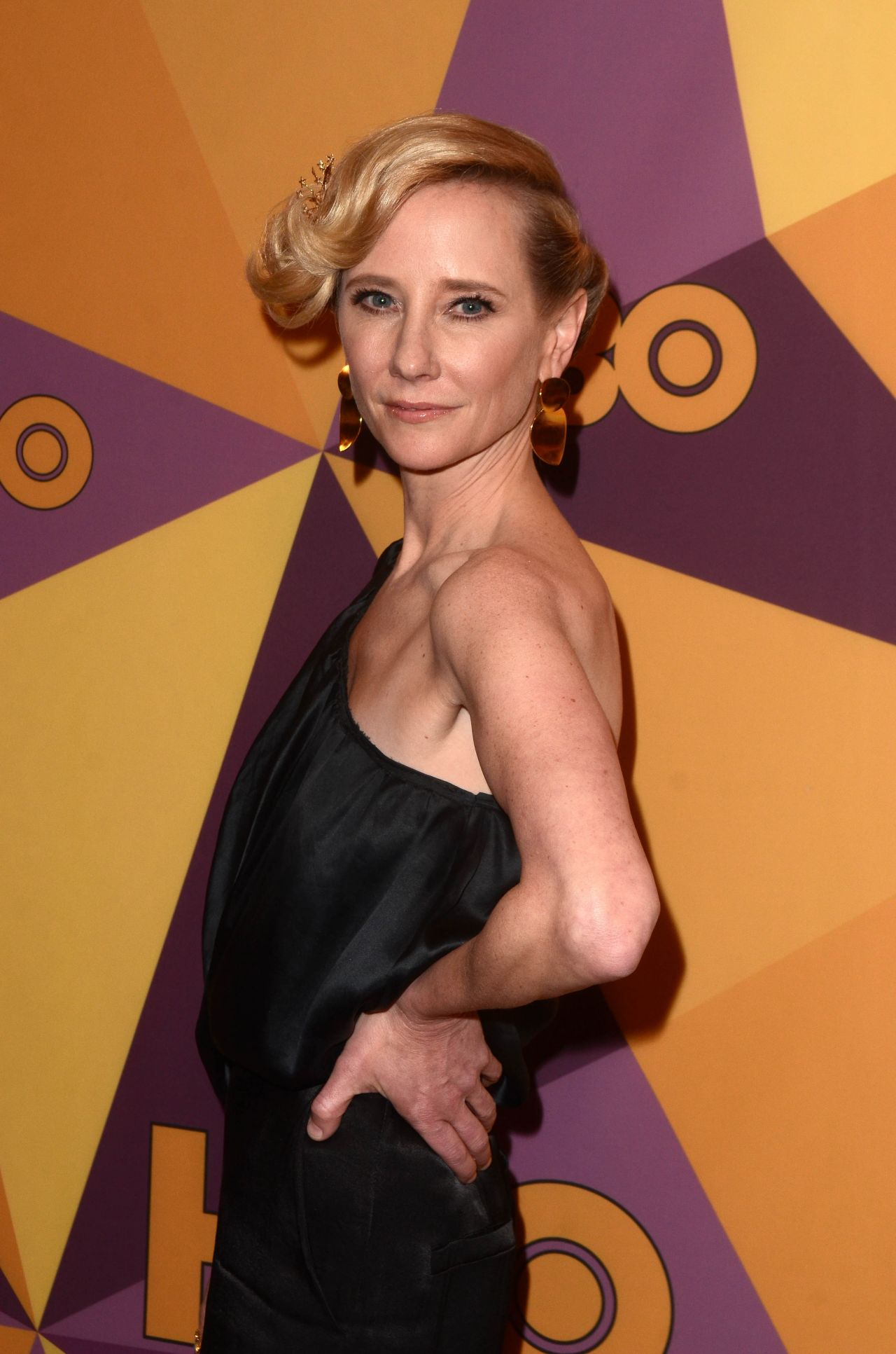 Anne Heche Hbo S Official Golden Globe Awards 2018 After