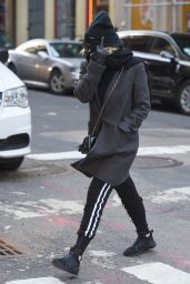 Ashley Benson Wonter Street Style - New York City 01/25/2018