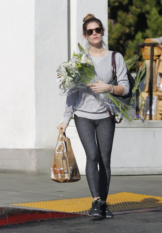 Ashley Greene in Tights - Shopping Flower in Beverly Hills