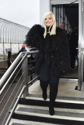 Bebe Rexha at the Empire State Building in NYC
