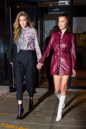Bella Hadid and Gigi Hadid - Out in New York City 01/11/2018