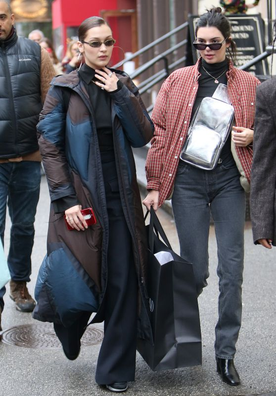 Bella Hadid and Kendall Jenner - Shopping in Soho in New York City