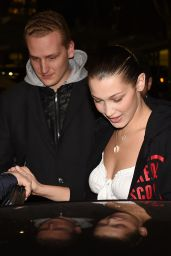 Bella Hadid at a Pizza in Milan, Italy