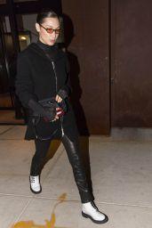 Bella Hadid in all Black in New York City 01/29/2018