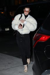 Bella Hadid in Casual Outfit in New York City 01/25/2018