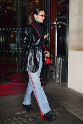 Bella Hadid - Leaving Her Hotel in Paris 01/25/2018
