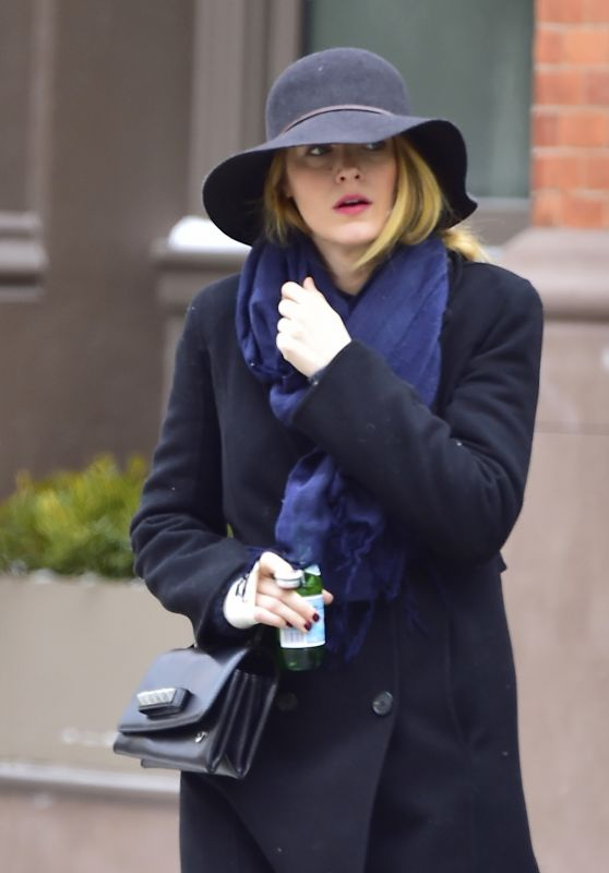 Blake Lively - Bundles Up on a Chilly Day in NYC