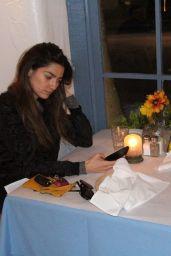 Blanca Blanco Dines at Taverna Tony in Malibu 01/30/2018