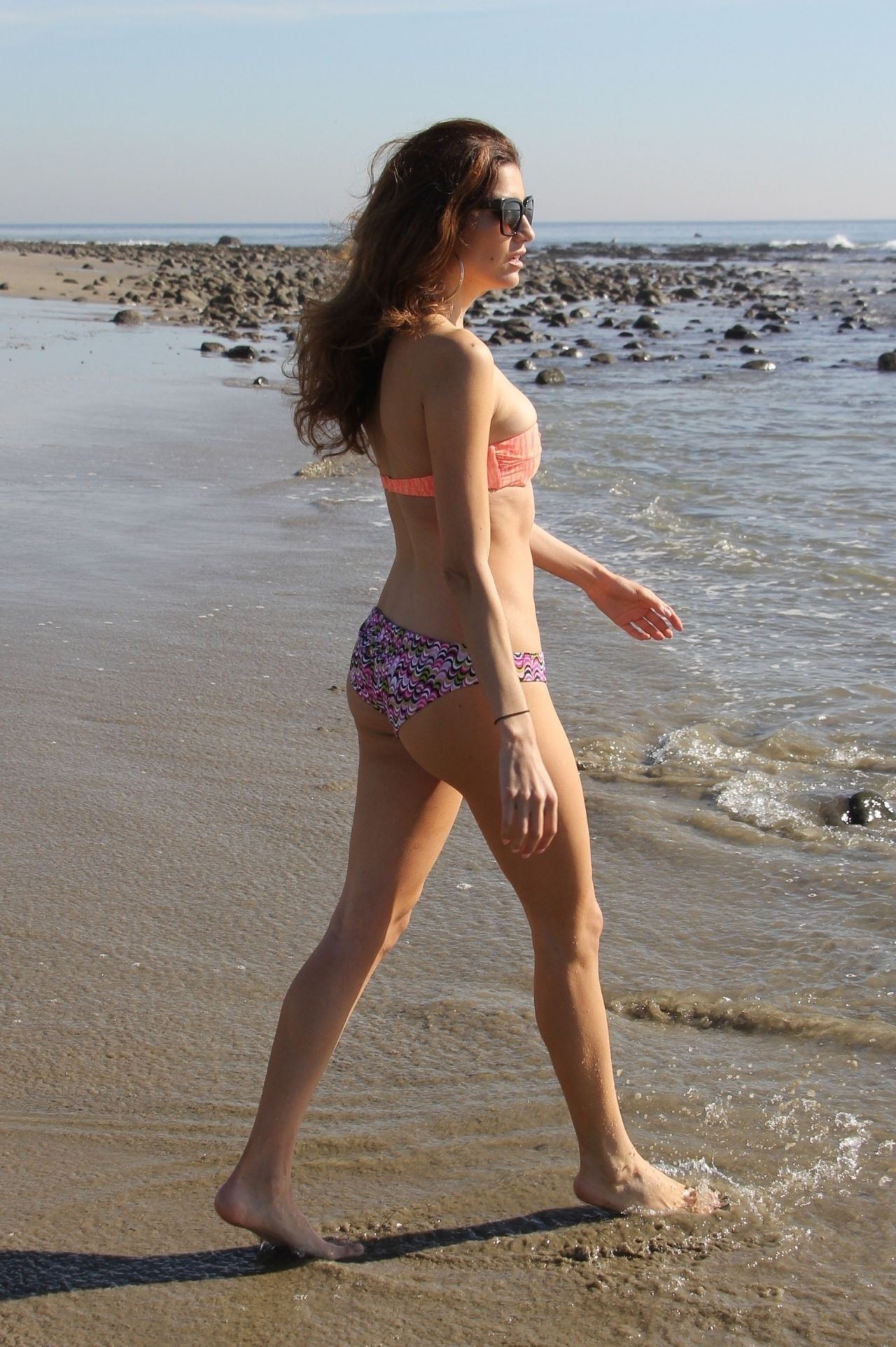 Blanca Blanco in Pink Bikini at the beach in Malibu Pic 35 of 35