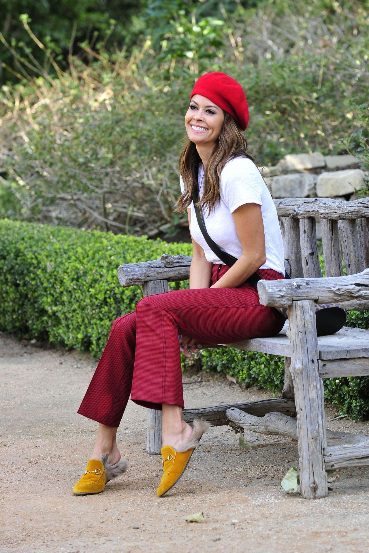 Brooke Burke in Red Bikini and Santa hat in Malibu Pic 1 of 35