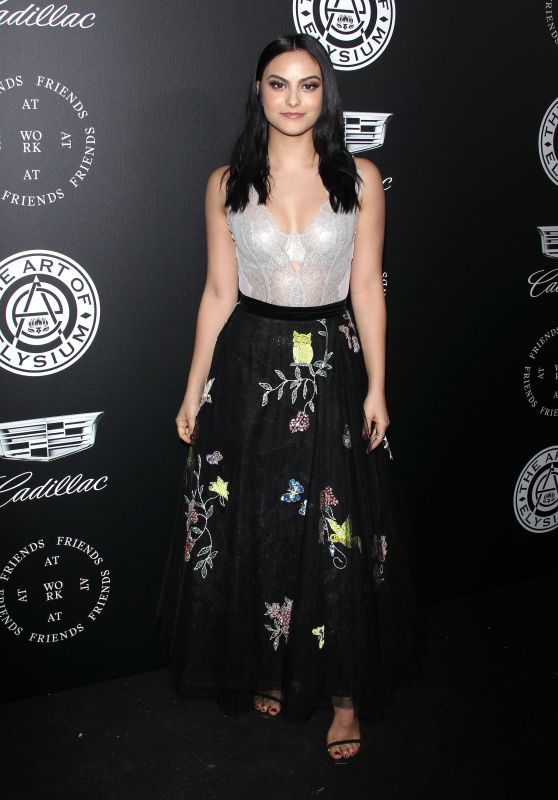 "Camila Mendes – The Art of Elysium Black Tie Artistic Eperience ""Heaven"" in Santa Monica"