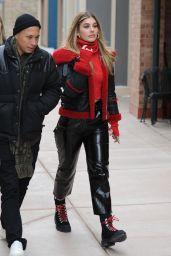 Camila Morrone in Leather at the Sundance 2018 in Studio City