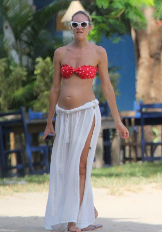 Candice Swanepoel in Bikini Top in Trancoso
