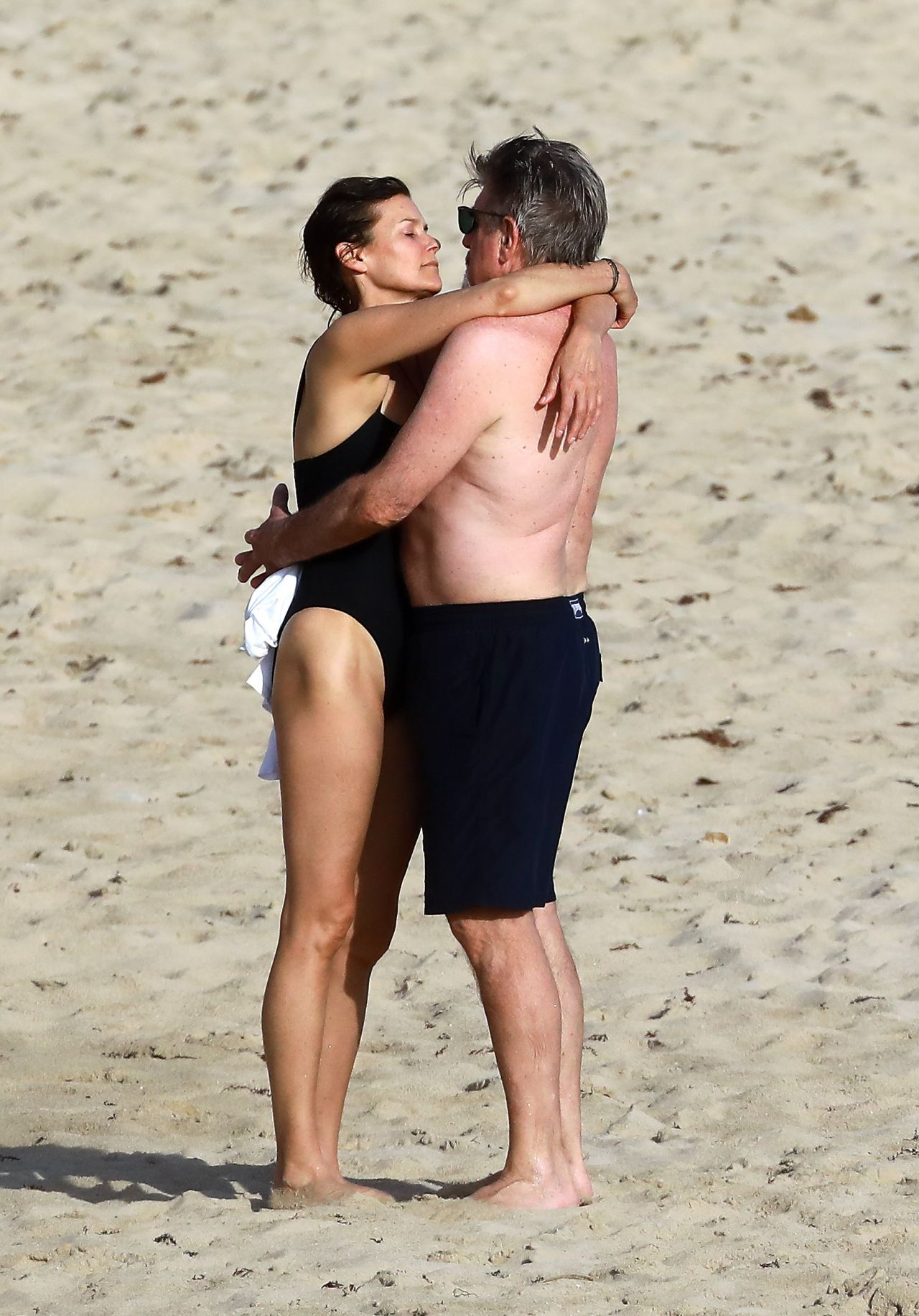 Carey Lowell In St Barts Beach With Her Boyfriend Tom Preston