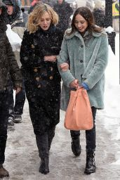 Carey Mulligan in a Snow Storm in Park City, Utah