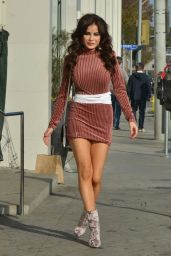 Carla Howe Leggy in Mini Dress - Out For Lunch in West Hollywood