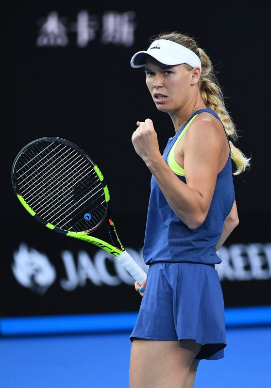 Caroline Wozniacki - 2018 Australian Tennis Tournament Final in Melbourne