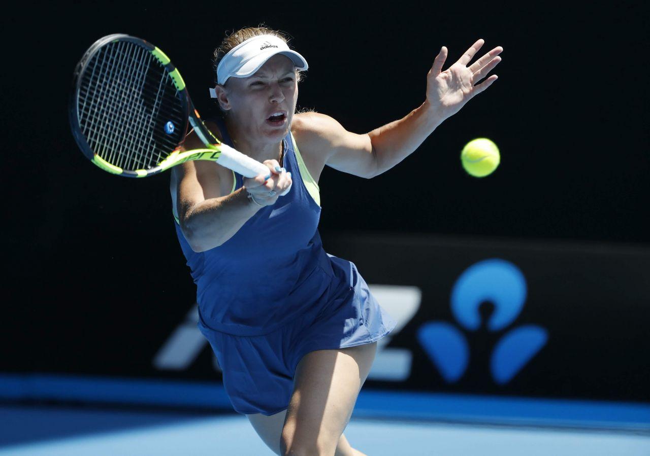 Caroline Wozniacki Australian Open 01 25 2018