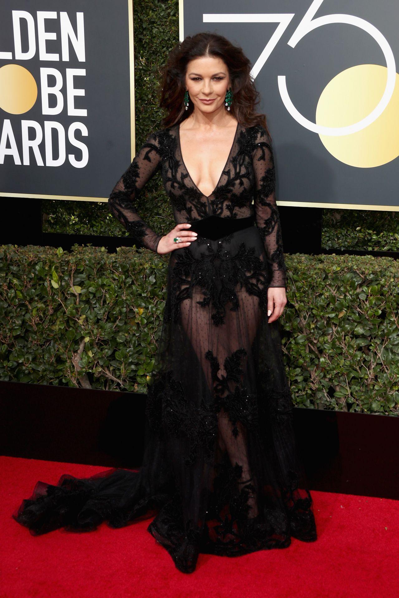 Catherine Zeta Jones Golden Globe Awards 2018 In Beverly