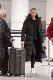 Charlize Theron in Travel Outfit in Montreal 01/11/2018