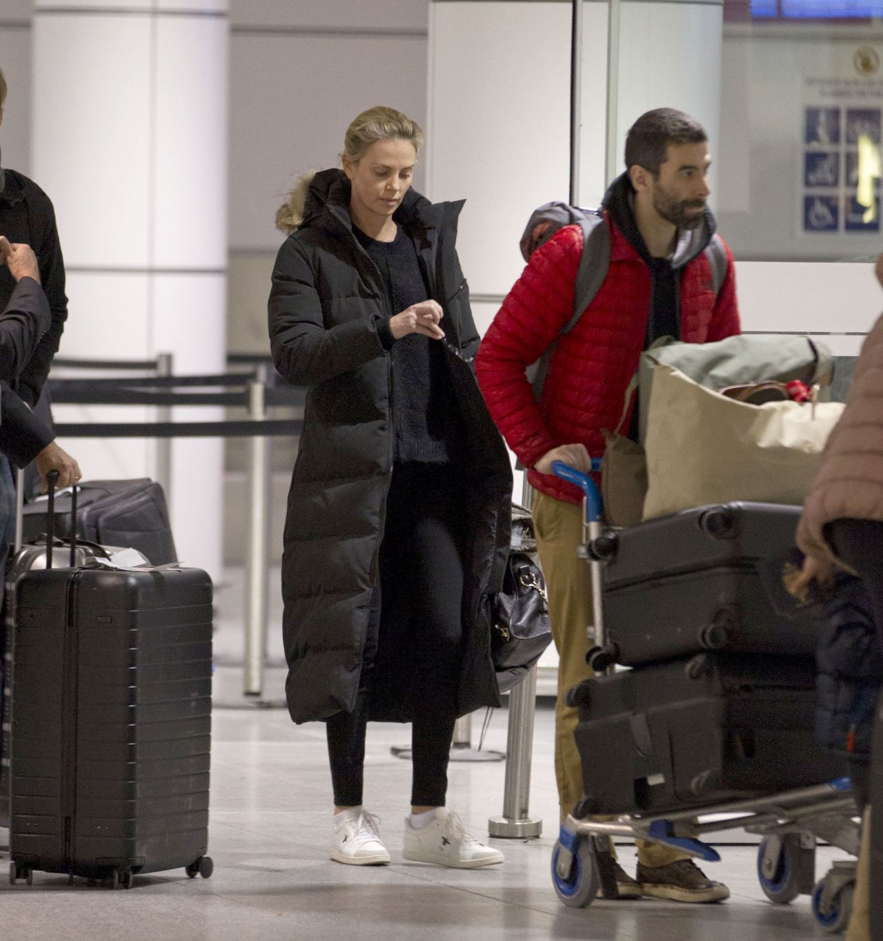 Charlize Theron In Travel Outfit In Montreal 01 11 2018