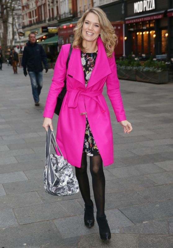 Charlotte Hawkins is Stylish in Pink - Out in London 01/08/2018