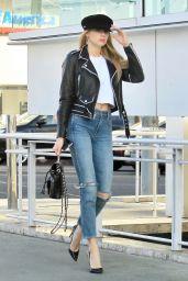 Charlotte McKinney Shopping in Beverly Hills
