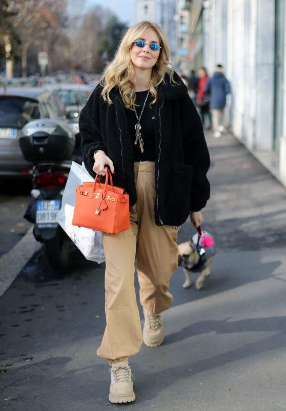 Chiara Ferragni Out in Milan 01/28/2018
