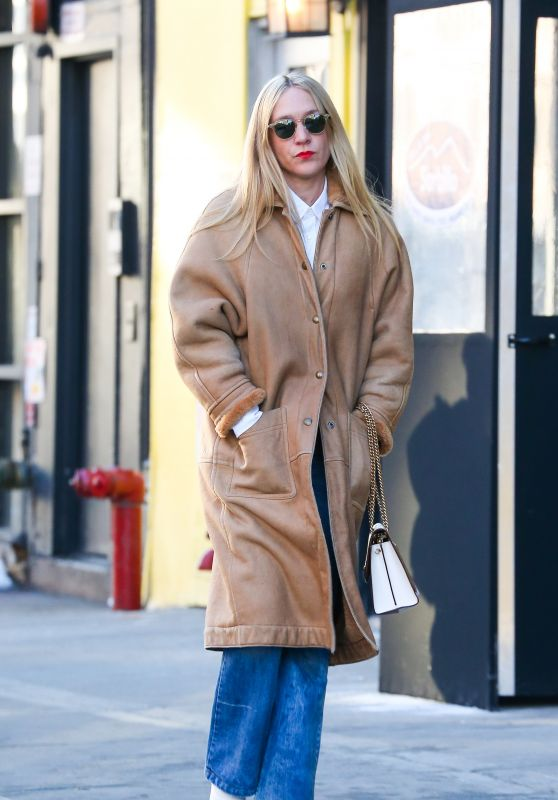 Chloe Sevigny Casual Style - Out in New York City 01/10/2018