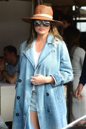 Chrissy Teigen and John Legend leaving Il Pastaio in Beverly Hills