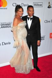 Chrissy Teigen – Clive Davis and Recording Academy Pre-Grammy Gala in NYC